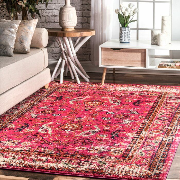 Alessia Pink Area Rug In 2020 Pink Area Rug Floral Area Rugs Area Rugs For Sale