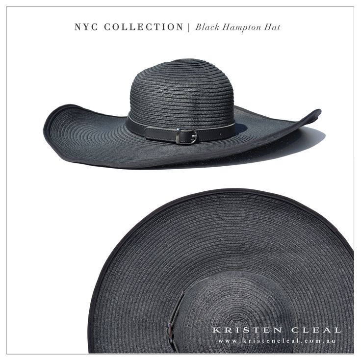Black Hampton Hat by Kristen Cleal Designs  Shop our online store at www.kristencleal.com.au