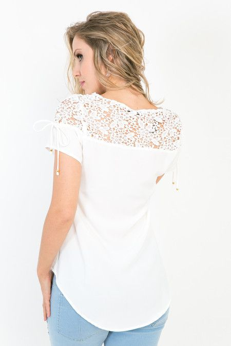 Camiseta renda Miller - Mari Villani