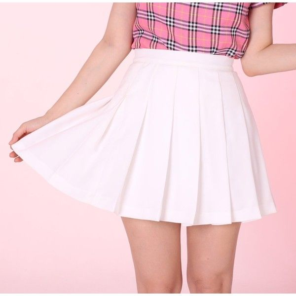 Best 25  White pleated skirt ideas on Pinterest | Women's french ...