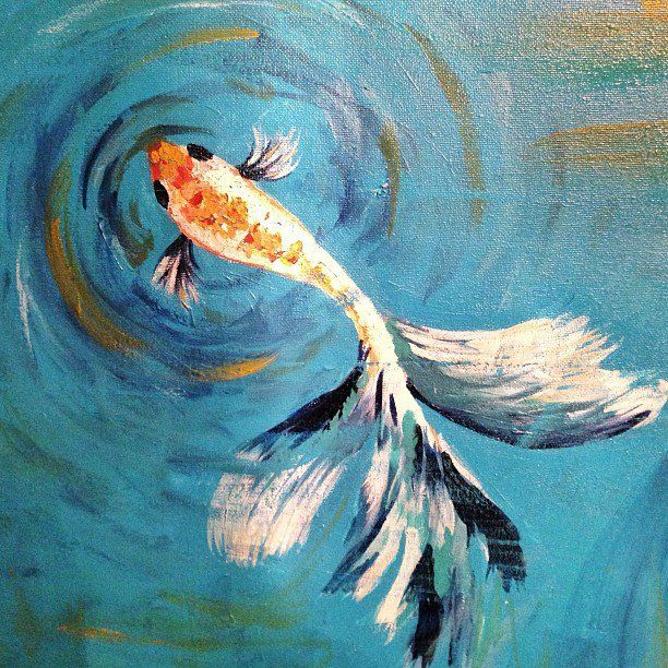 Betta fish painting in acrylic fishy wishy pinterest for Watercolor fish painting