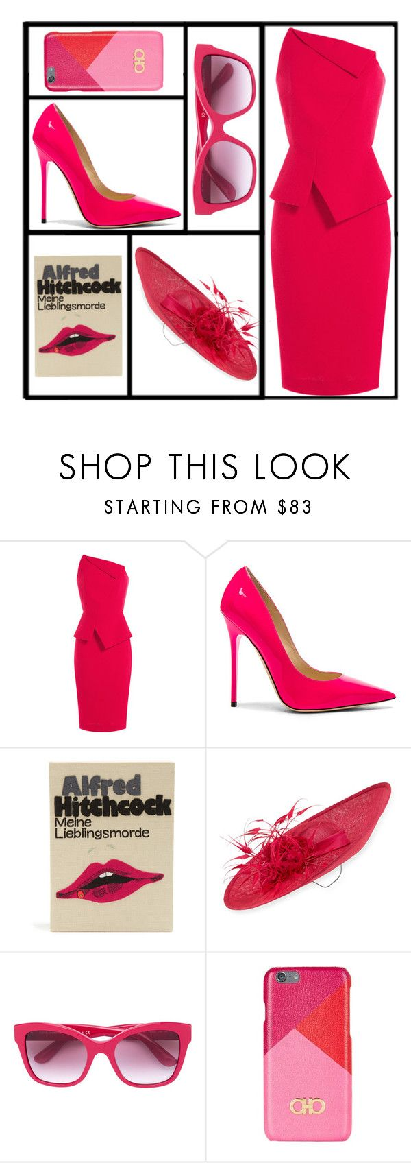 """""""Eccentric Business Woman"""" by jazzola-19 ❤ liked on Polyvore featuring Roland Mouret, Jimmy Choo, Olympia Le-Tan, Rachel Trevor-Morgan, Dolce&Gabbana and Salvatore Ferragamo"""