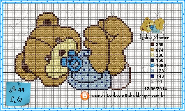 "Delicate Corner: Charts Cross Stitch ""Bears"""