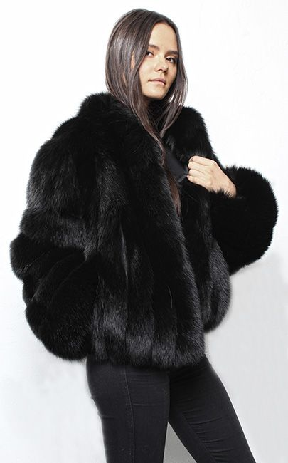 7668b43b440 Black Fox Jacket 3214 in 2019 | Fur fashion | Fox fur jacket, Fur ...