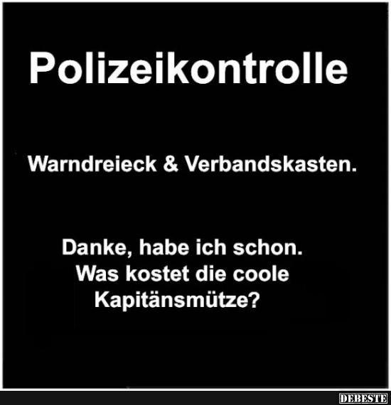 Polizeikontrolle..