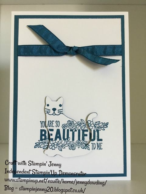 Stampin' Up! Cat Punch Weekend Blog. Easy Card