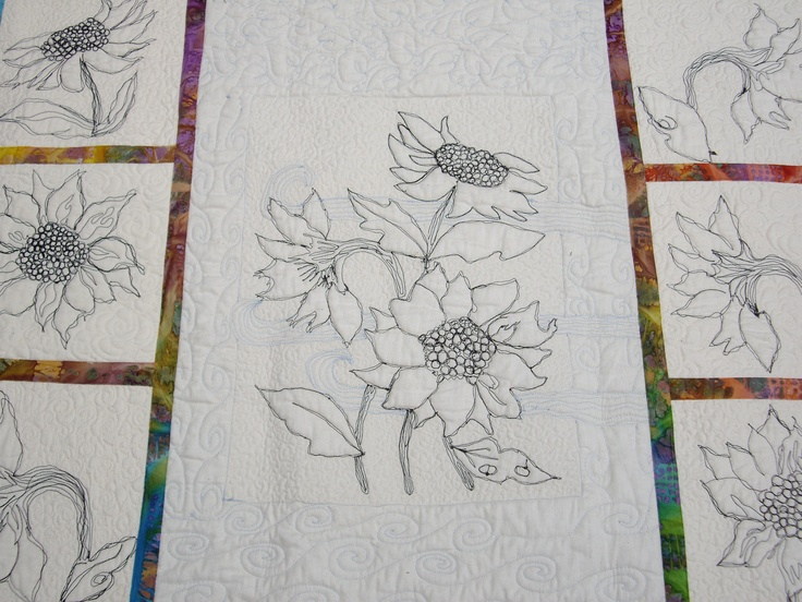 This is the back of the Sunflower quilt.