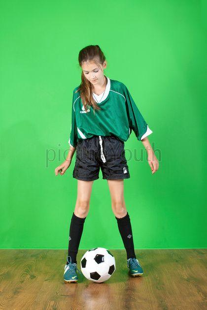 Studio soccer shoot.