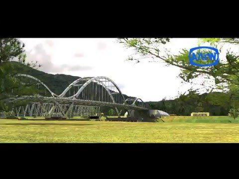Animasi Jembatan Water Front City Bangkinang