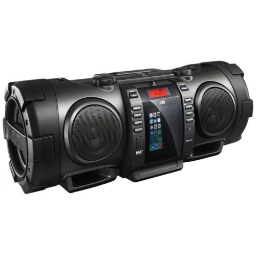 JVC-RVNB100-40W-Portable-Bluetooth-DAB-CD-Radio-Boombox-With-iPhone-5-Dock