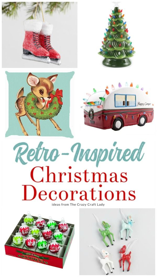 they may be reproductions but these retro christmas decorations are filled with nostalgic christmas charm