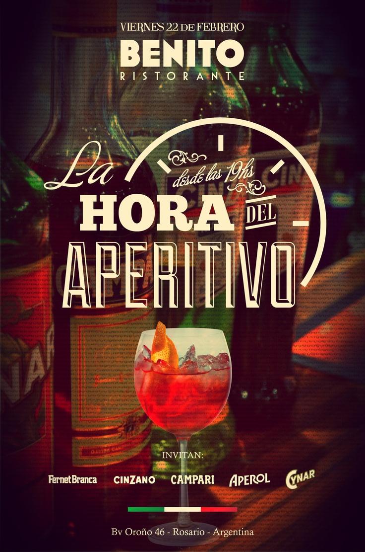 """E-flyer """"La hora del Aperitivo"""" Benito 2013"""