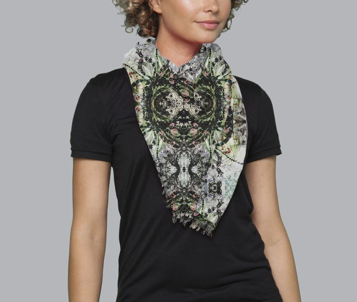 Cashmere Silk Scarf - city by VIDA VIDA