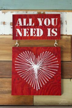 All You Need Is...Valentine String Art & Engraving from Pretty Handy Girl