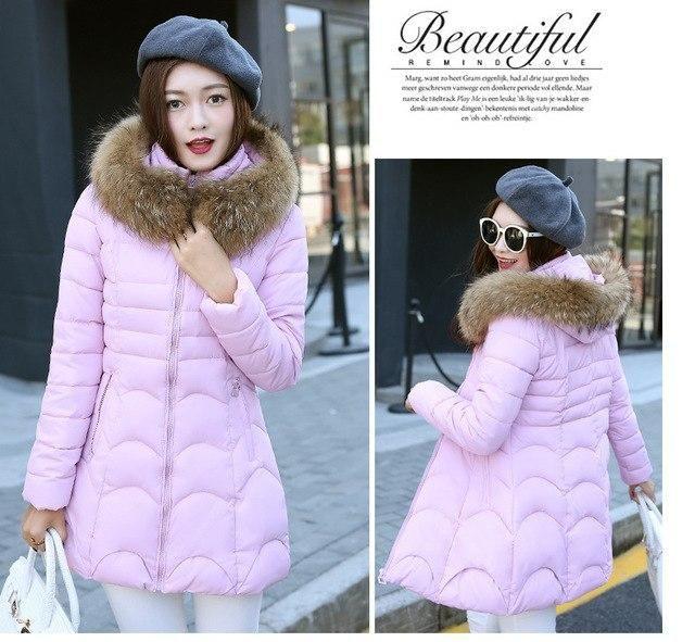 Winter Jacket Women New 2018 Coats faux fur coat Female Parka Thick Cotton Padded Lining Ladies manteau femme hiver plus size pi 2