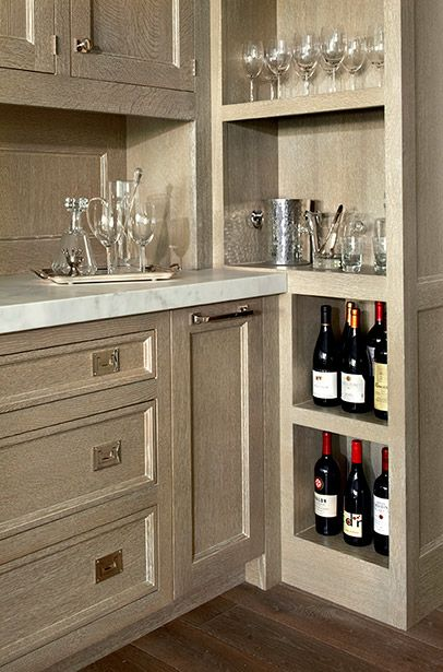Layout of Built-Ins for Wet Bar | O'Brien Harris