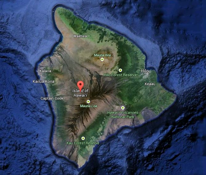 Windward and Leeward sides of Hawaii Island illustrated