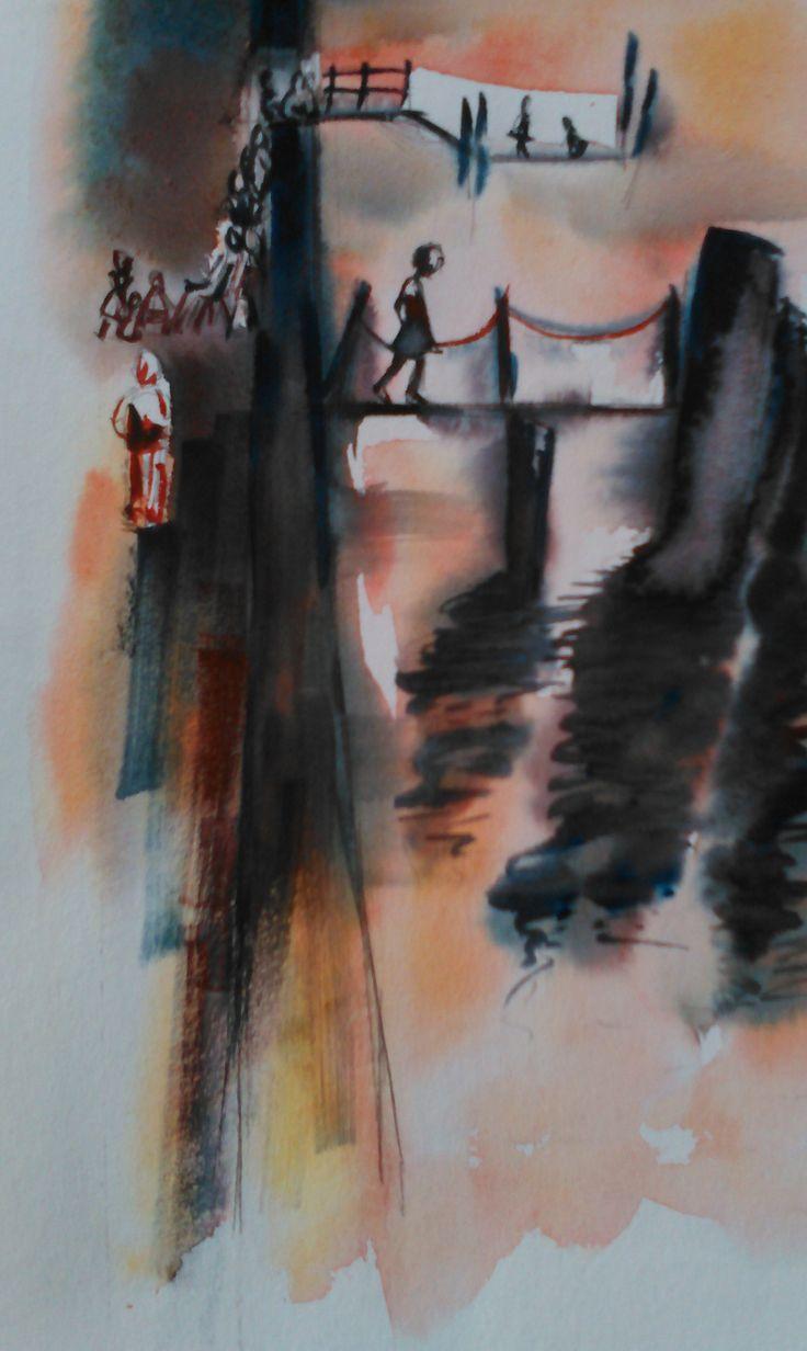 Interprétation de Venise par Ronis - aquarelle