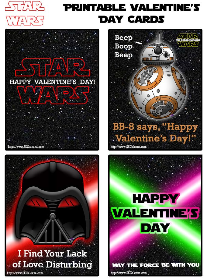 Http://skgaleana.com/free Printable Star Wars . Printable StarValentine  IdeasStarwarsFor ...