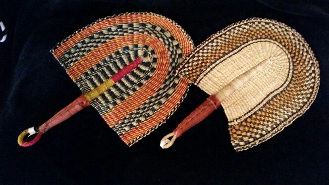 Woven African fans. Stylish and functional.