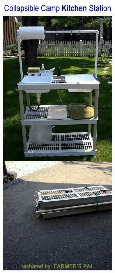 Portable sink area or maybe a potting table....