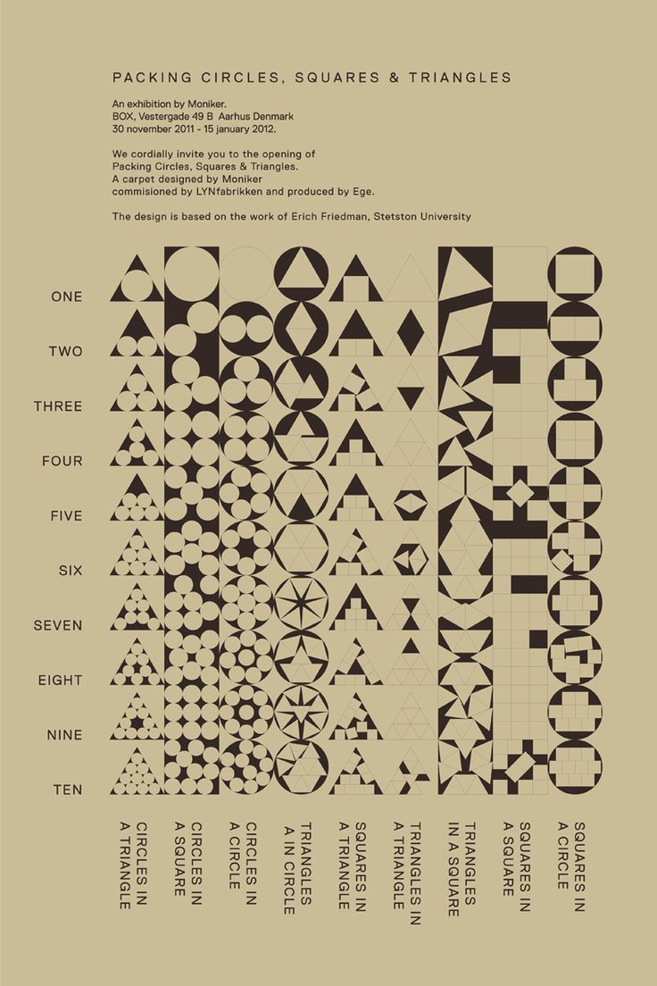 """Conditional Design, """"Packing Circles, Squares & Triangles"""""""