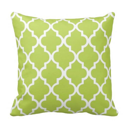 Kiwi Green Quatrefoil Pattern Throw Pillow This site is will advise you where to buyDeals          Kiwi Green Quatrefoil Pattern Throw Pillow Here a great deal...