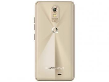 """Smartphone Quantum Müv 16GB Mirage Gold - Dual Chip 4G Câm. 13MP + Selfie 8MP Tela 5,5"""" HD"""