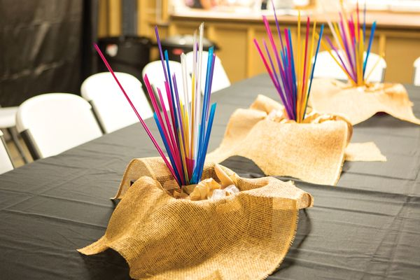 Table decoration at Cave Quest VBS