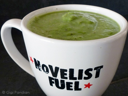 Green smoothie in my favorite mug.