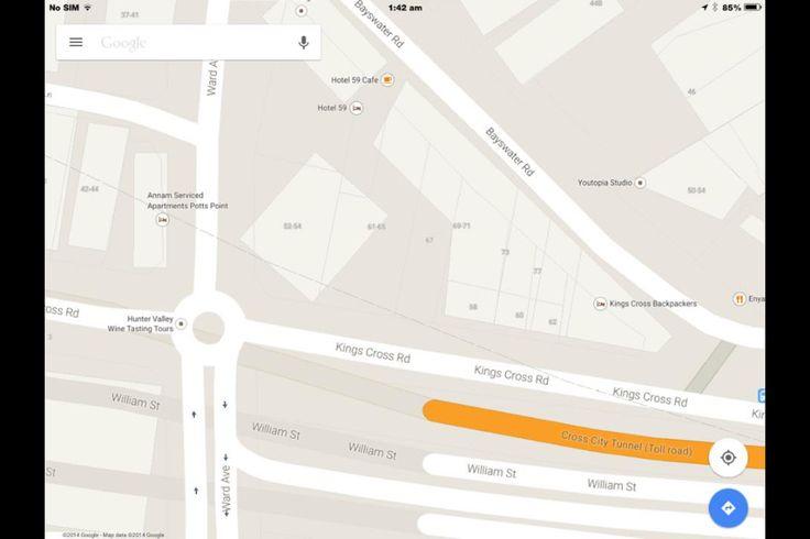 Rescue map for Red Bellied Black Snake @ 56 Kings Cross Rd, Darlinghurst, Sydney, NSW Australia. Sunday 09/11/14.