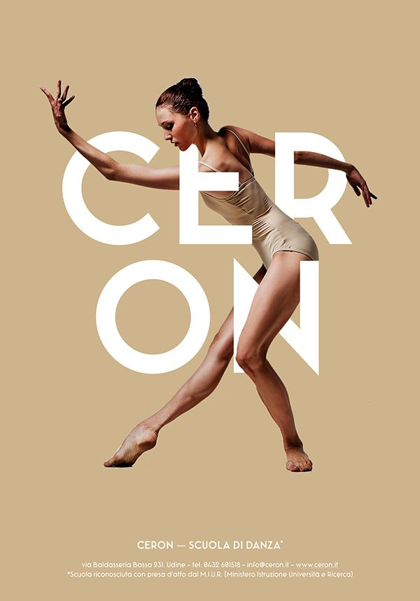 Ceron Dance School - Posters Design by Ivan Moreale, via Behance