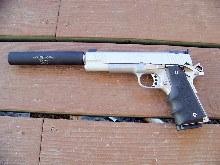 Kimber 1911 with silencer | Things I love to hold in my ... M1911 Silenced