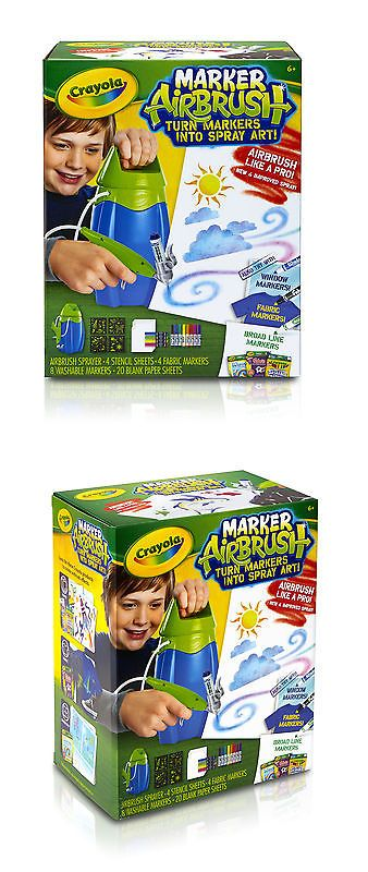 Crayons 116653: Crayola Marker Airbrush Set Free Shipping New -> BUY IT NOW ONLY: $30.04 on eBay!