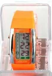 Persopolis unisex watch with silicone strap orange