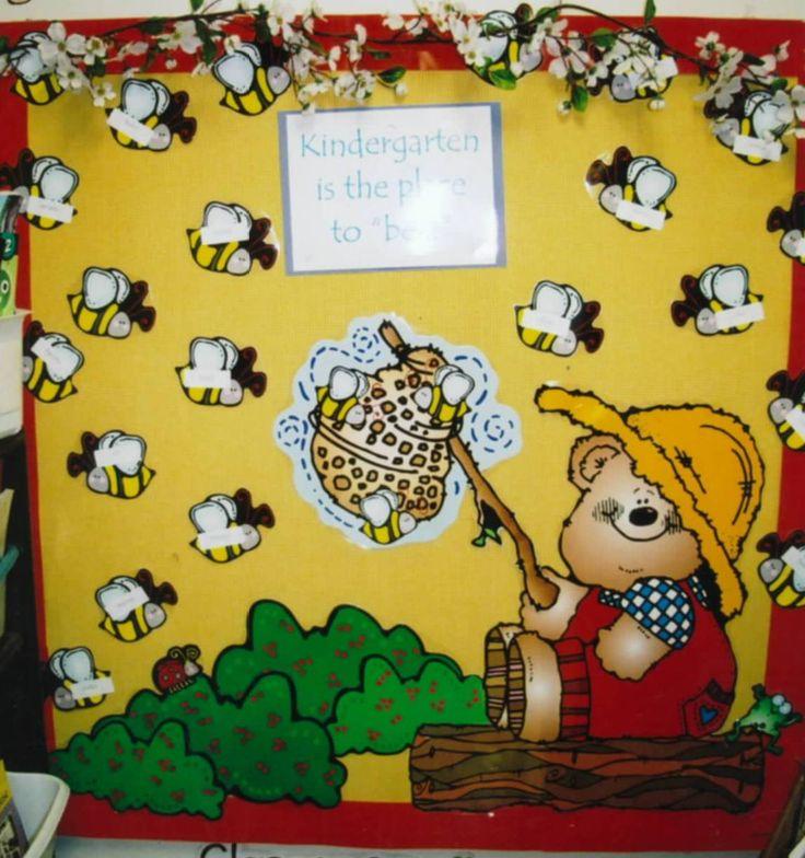 Chalk Talk: A Kindergarten Blog: Back to School Bulletin Boards: Preschool is the Place to Bee!