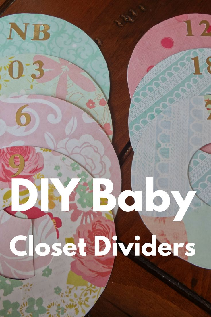 Make your own baby closet dividers to keep your little one's clothes organized!