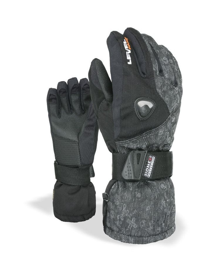 Level Fly Junior Youth Snowboard Gloves with built-in wrist protection for kids