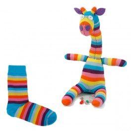 Animaux en chaussettes - Girafe chaussette