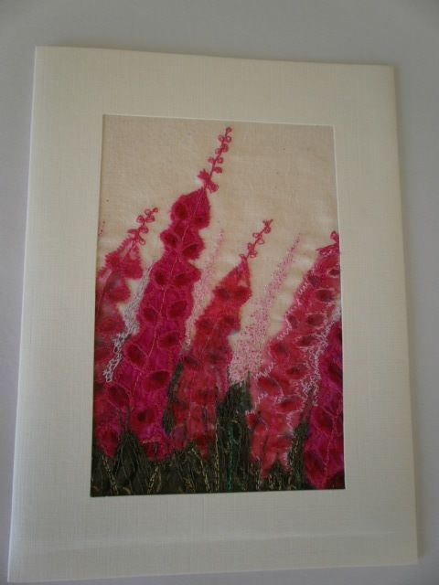 Foxgloves. Textile Art £12.50