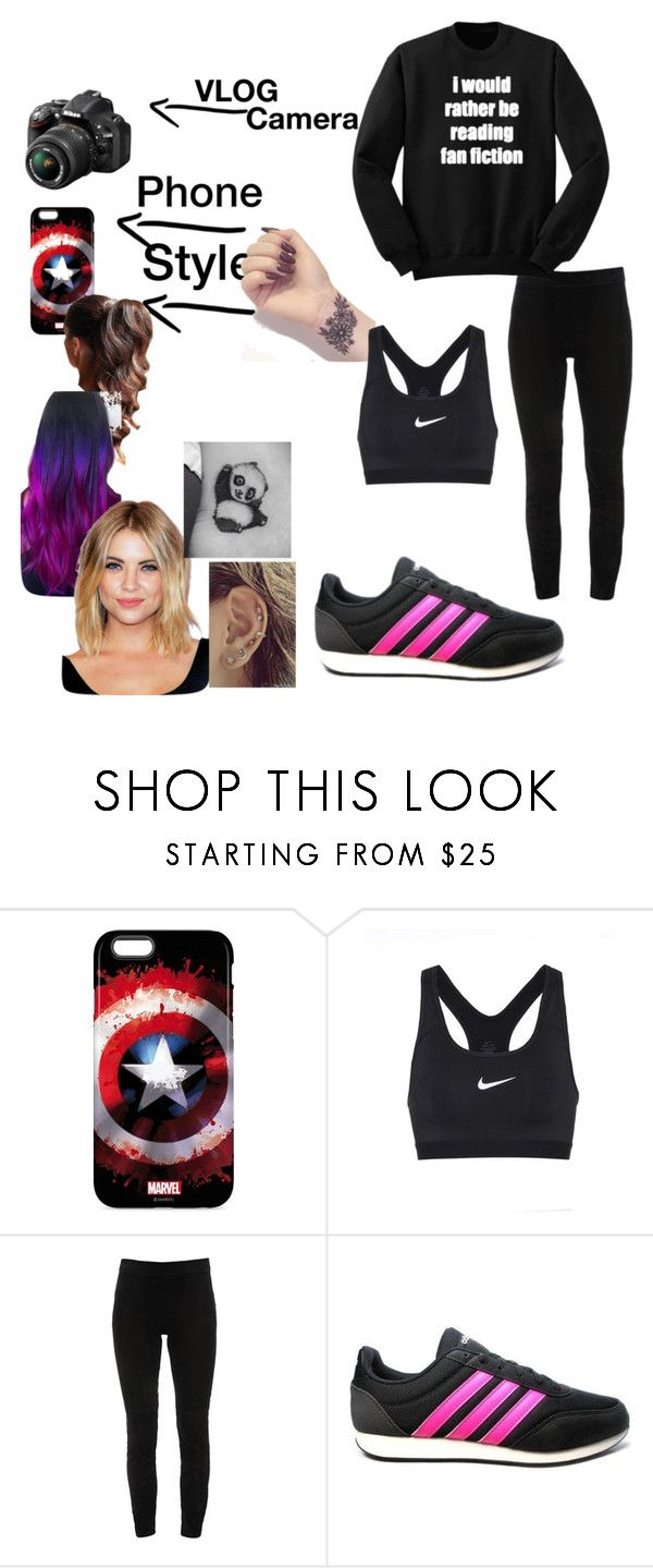 """""""Training mit den Jungs"""" by piasmops ❤ liked on Polyvore featuring Nikon, NIKE, Elie Tahari and adidas"""