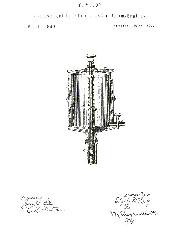 the first patent of elijah mccoy  a turn