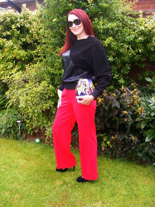 Oak top, Oasis trousers, Angel Jackson bag.