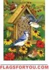 Songbird Feast Garden Flag