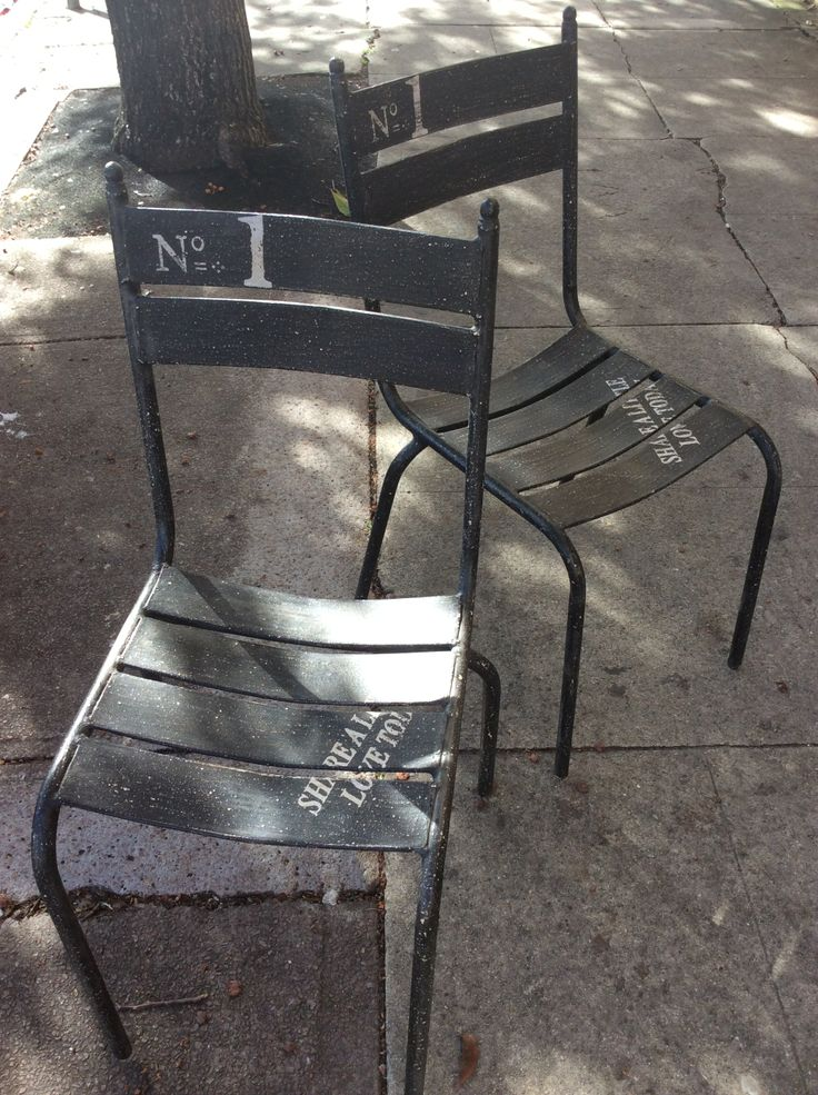 These industrial chairs are new and made of metal and to look old.#industrial #chair #itsmeagain