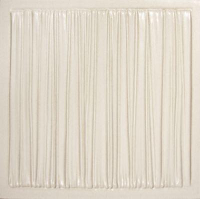 """Tableau by Kelly Wearstler 9"""" x 9"""" Coastal field tile in White Shimmer"""