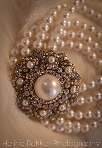 Vintage inspired pearl bracelet, perfect for your vintage themed wedding day