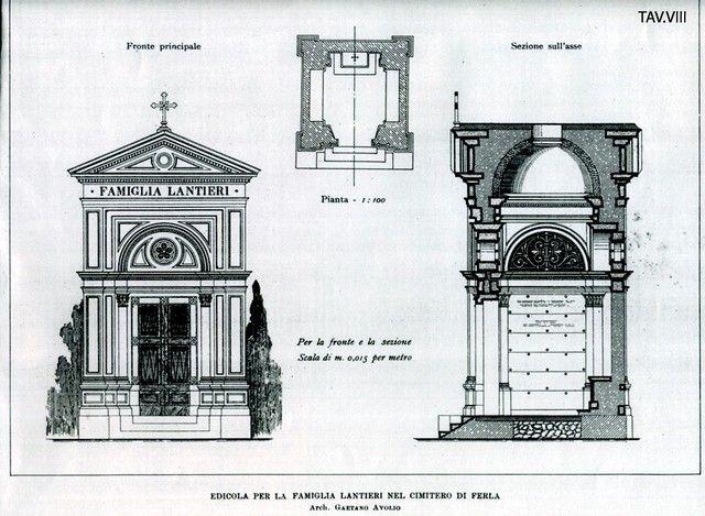 Edicola per la famiglia Lantieri nel cimitero di Ferla, arch. Gaetano Avolio