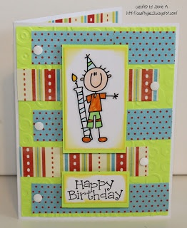 Crafty Girl 21!: SALS Birthday Boy Card