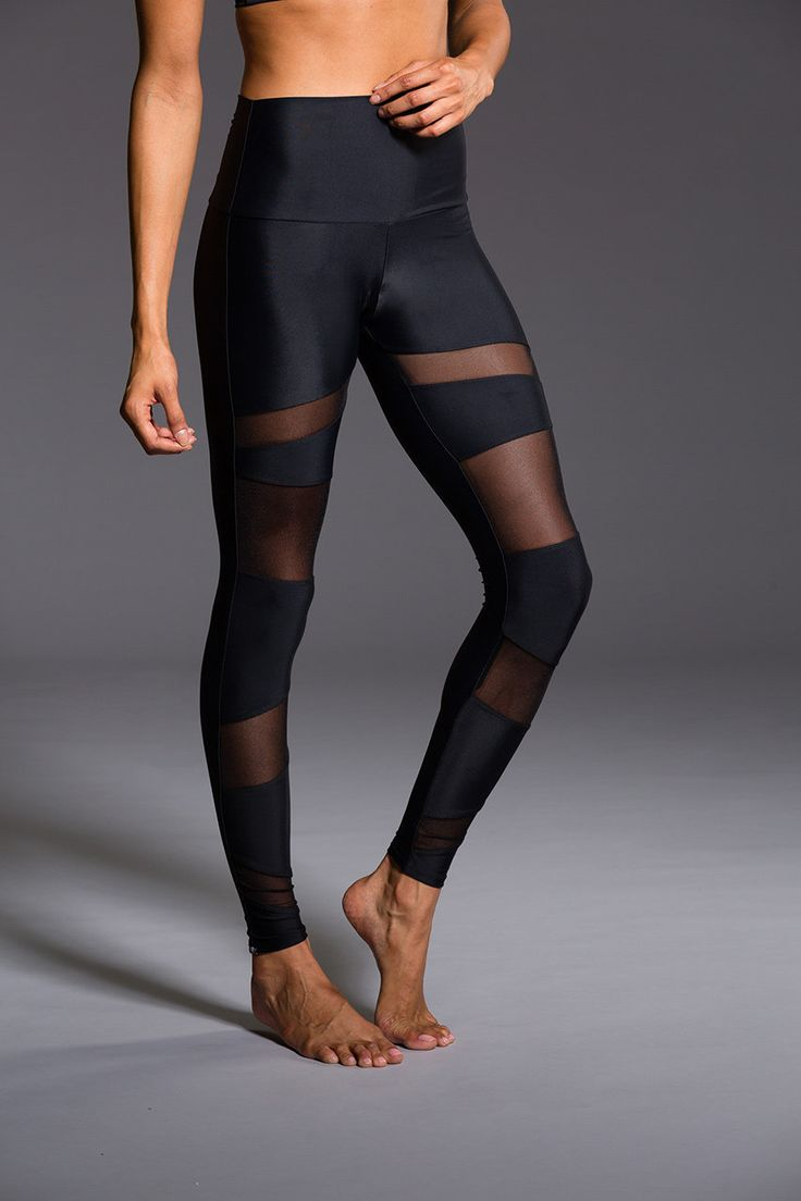 High Rise Bondage Legging - Black / Black Mesh | Onzie . I'm  all about the MESH this summer. Next up on the list.